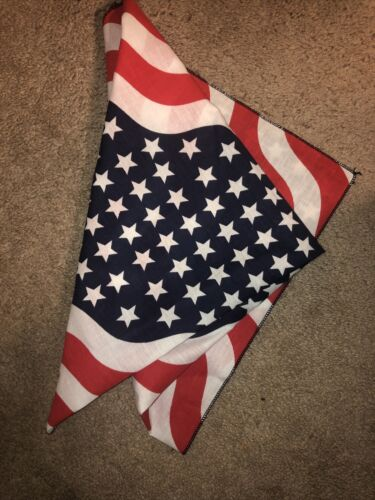 Vtg Red White Blue  Flag Stars Stripes Patriotic A