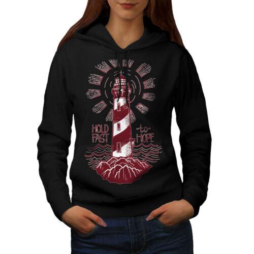 Wellcoda Lighthouse Hope Fashion Womens Hoodie Light Casual Hooded Sweatshirt