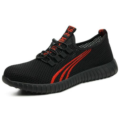 Men Mesh Safety Working Shoe Lightweight Breathable Steel Toe Protective Sneaker