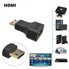 1.4V Conector Chapado En Oro Adaptador HDTV HDMI Mini Macho A Hembra