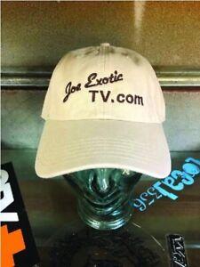 Joe Exotico Tv Tigre Rey Sombrero Ajustable Con Una Pegatina De