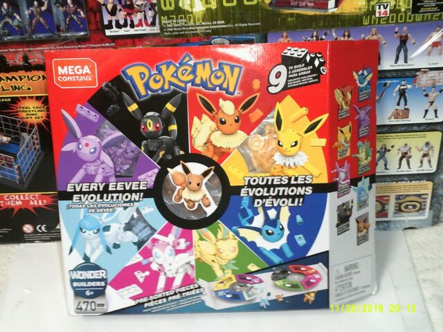 Mega Construx Pokémon Every Eevee Evolution! wonder builders 470 pcs New Sealed