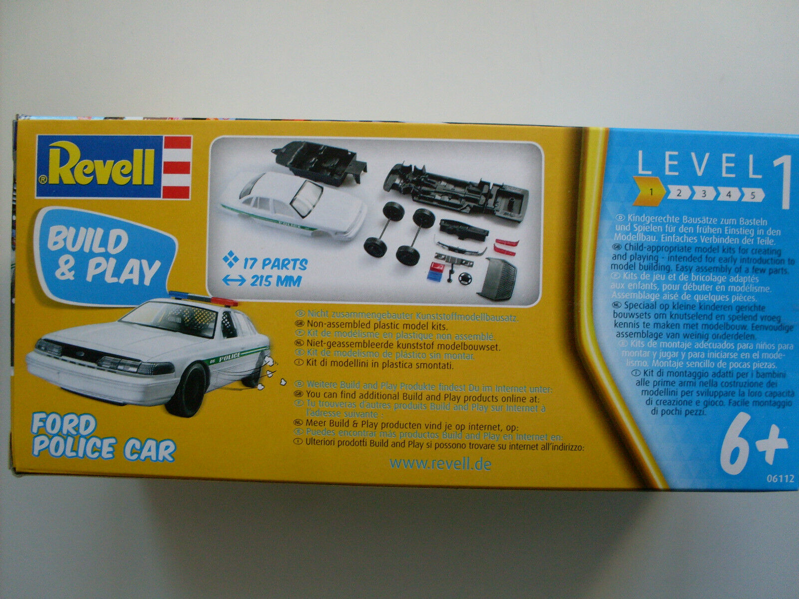 Build /& Play Ford Police Car ab 6 Jahre Sportwagen 1:25 Revell 06112