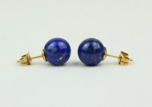 Image Is Loading 8mm Lapis Studs Sphere 8 Mm Lazuli