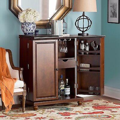 Folding Expandable Wine Storage Bar Cabinet Home Living Dining Room  Furniture | eBay