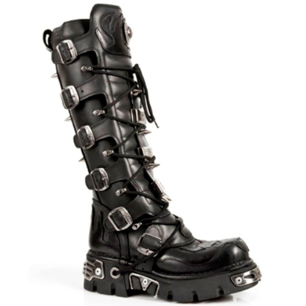 New Rock Stiefel Unisex Punk Gothic Stiefel - Style 161 S1 Schwarz