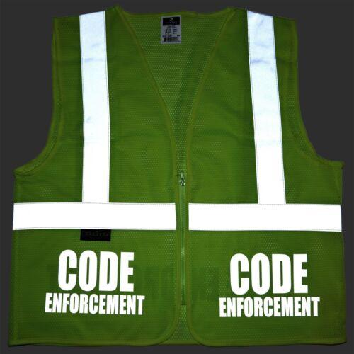 High Visibility vest Code Enforcement safety vest with REFLECTIVE design