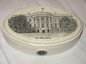 John-Wills-Studios-Etched-Cultured-Marble-Box-White-House-DC-Prez-seal-made-USA