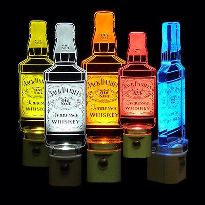 "Man Cave 3//8/"" Acrylic Handmade Jack Daniels Night Light Lamp Dad"