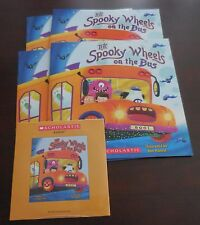 The Spooky Wheels on the Bus PB Scholastic Listening Center 4 Books with CD