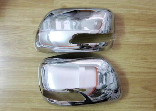 Chrome ABS Side Door Mirror Cover Trim 2pcs For Toyota Prado FJ150 2010-2018