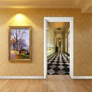 3D-Grid-Corridor-Wall-Stickers-Vinyl-Murals-Wall-Print-Deco-AJSTORE-UK-Kyra