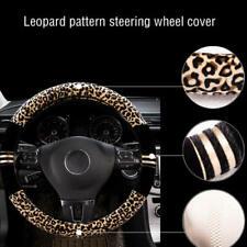 Black/&Yellow DIY Auto Car Truck Steering Wheel Cover Anti Slip Protector 38CM UK