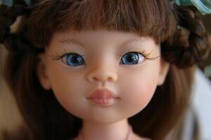 1 pair~Realistic BLUE Oval Glass Eyes for Paola Reina doll 14 mm ~iCukla~
