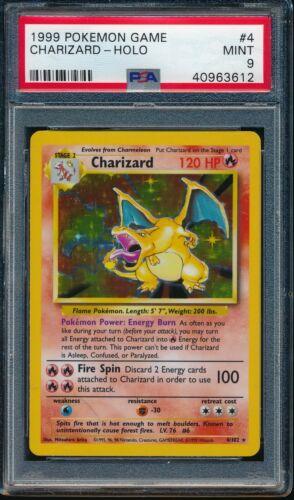 PSA 9 CHARIZARD 1999 Pokemon Base Unlimited #4/102 Holo Rare Non-Shadowless MINT