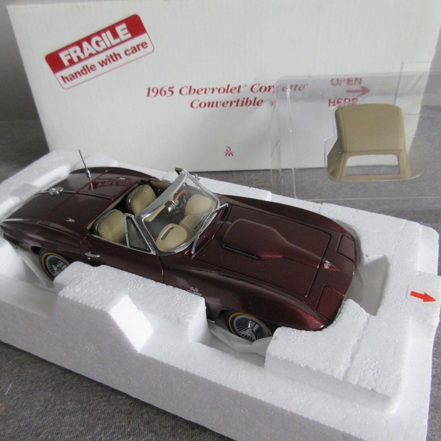 de moda Raro 1965 Corvette Converdeible Granate Danbury Mint Mint Mint 1 24 Diecast Menta en Caja Nuevo En Caja  hasta 42% de descuento