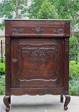 Antique French Dark Oak Louis XV Style Jam Cabinet Confiturier Bar Server 19th C
