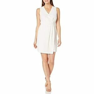 MSRP $129 Vince Camuto Women's Pleated Crepe Dress Pearl Ivory White Size 0