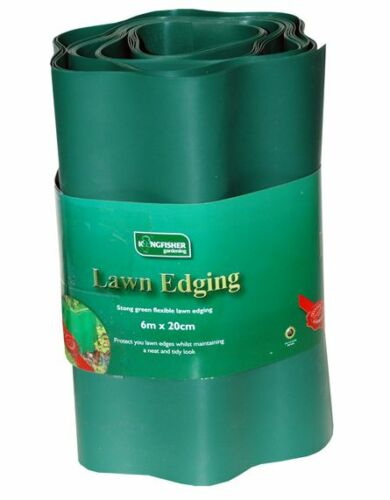NEW LAWN EDGING STRONG FLEXIBLE PLASTIC PATH BORDER PANEL PROTECTOR SIZE CHOICE