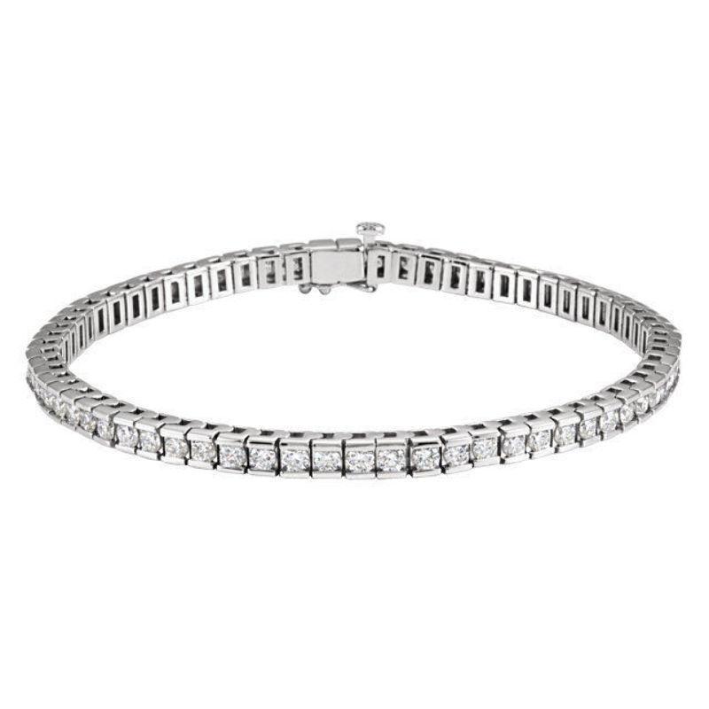 Diamond Tennis 7.25  Bracelet In 14K White gold (4.00 ct. tw.)
