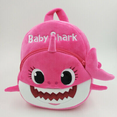 Kids Baby Shark Backpack Plush Cute Cartoon Bag For Children Kids School Gifts