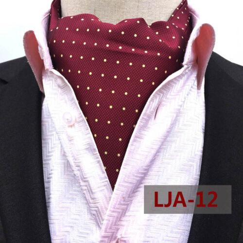 Men/'s Colorful Floral Paisley Polka Dots Ascot Cravat Tie Wedding Party Necktie