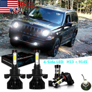 For Jeep Liberty 2008-2012 LED Headlight Hi/Low + Fog ...