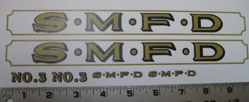 Smith Miller L Mack fire truck replacement water slide decal set
