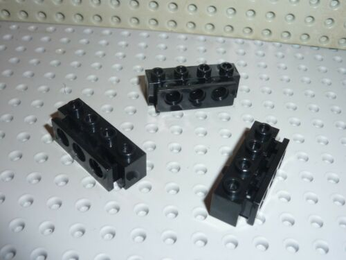 3 x lego black bumper holder 2989//set 8872 8816 7243 7045 8824 6473