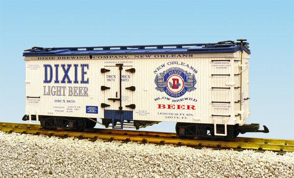 USA i treni G Scale U.S. REEFER auto R16396 Dixie Light Beer biancablu