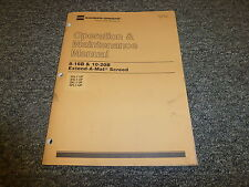 Caterpillar Cat 8-16B & 10-20B Extend A Mat Paving Screed Owner Operator Manual