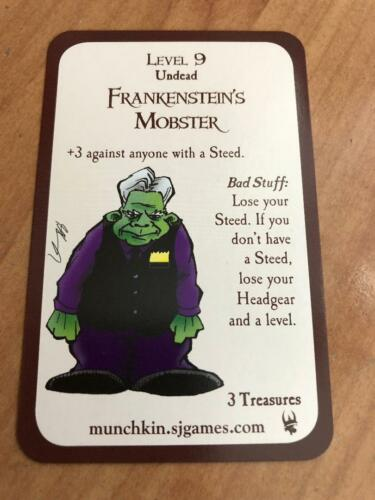 Munchkin Promo Card FRANKENSTEIN/'S MOBSTER Steve Jackson