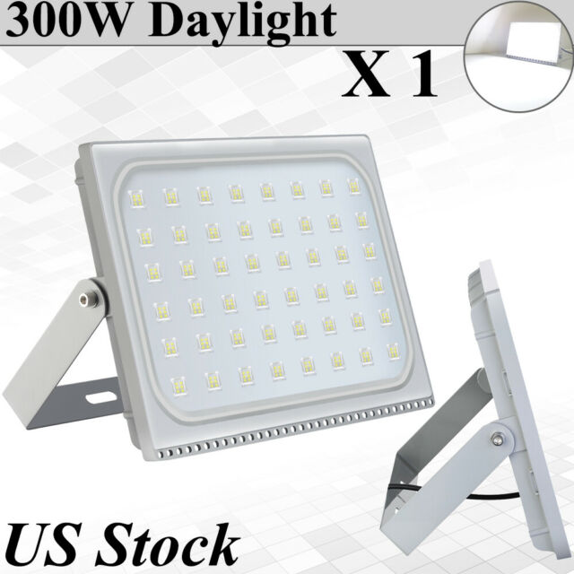 10X100W LED Flood Light Outdoor Security Lighting Cool White Slim Lamp US Stock