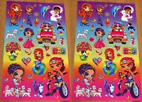 Lisa Frank Stickers Girls Love To Shop Car Puppy Cats Balloons 2 Sheets
