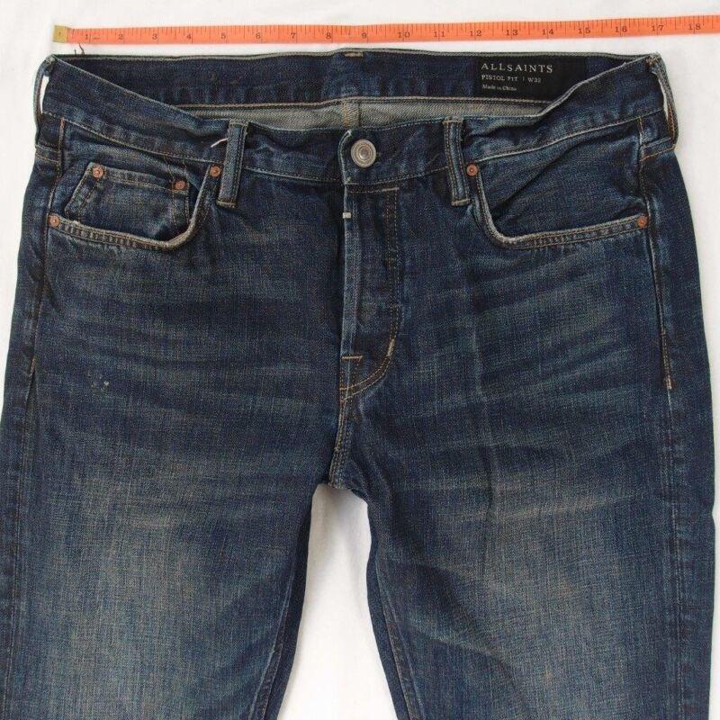 100% QualitäT Herren All Saints Amori Pistole Skinny Blau Jeans W33 L32