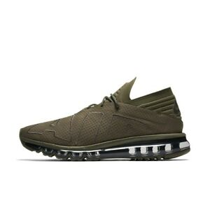 Size-8-NIKE-Men-AIR-MAX-FLAIR-RUNNING-SHOES-942236-200-Olive-Green-Black