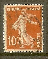 FRANCE-TIMBRE-STAMP-N-138-034-TYPE-SEMEUSE-FOND-PLEIN-SANS-SOL-10-C-034-OBLITERE-TB