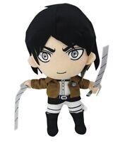 "New Attack On Titan Shingeki No Kyojin Eren Jaeger Plush Soft Doll 12"" Rare Gift"