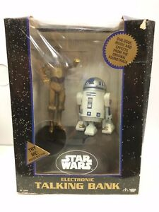 Star Wars C-3PO and R2-D2 Electronic Talking Bank Thinkway 1996