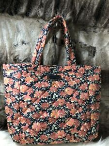 Details about NWT Marc Jacobs New York Peach Pink Floral Print Quilted  Shopper travel Tote Bag 31a1528fb51b1
