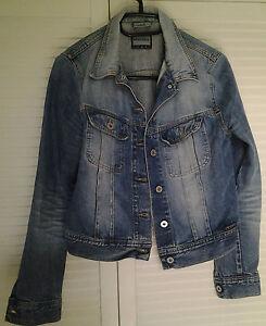promo code 3468e c6102 Details zu Freesoul Jeans Jacke kurz figurbetont Gr. M Liza 100% Baumwolle