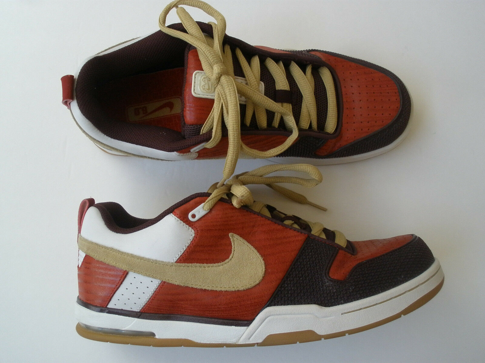 buy popular 6b3f1 3d022 2018 NIKE 6.0 rojo rojo rojo WOOD INSURGENT Cuero Zapatos EE. UU. 10.5 AIR
