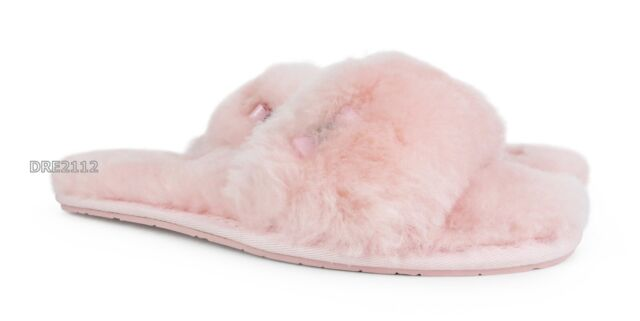 98a4db088e1 UGG Australia Fluff Clog Baby Pink Fur Slippers Womens Size 11 for ...