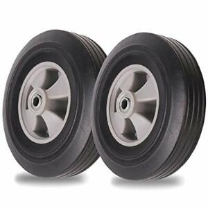 """2-Pack AR-PRO 10''x2'' Flat Free Solid Rubber Replacement Tires 4.10/3.50-4"""" ..."""