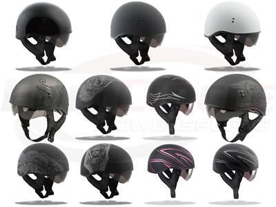 New Gmax Gm65 TORMENTOR Street Naked Half Dot  Motorcycle Helmet Harley Indian