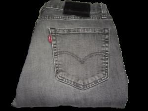 Uomo Levi's 511 Premium Grigio (2953) Slim Fit Elasticizzato Denim Jeans W33 L32