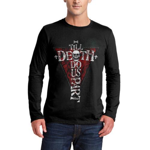Till Death Do Us Part T-Shirt Horror Reaper Gothic Occult Cross Skull Dead P606