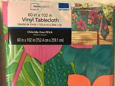 New Mainstays Floral Vinyl Tablecloth Rectangle 60 In X 102 In, Chloride  Free