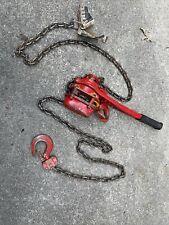 Harrington 1 12 Ton Lb015 Lever Chain Hoist With 10 Chain