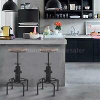 T4 Metal Bar Stool Adjustable Swivel Pinewood Kitchen Dining Chair Barstool on sale